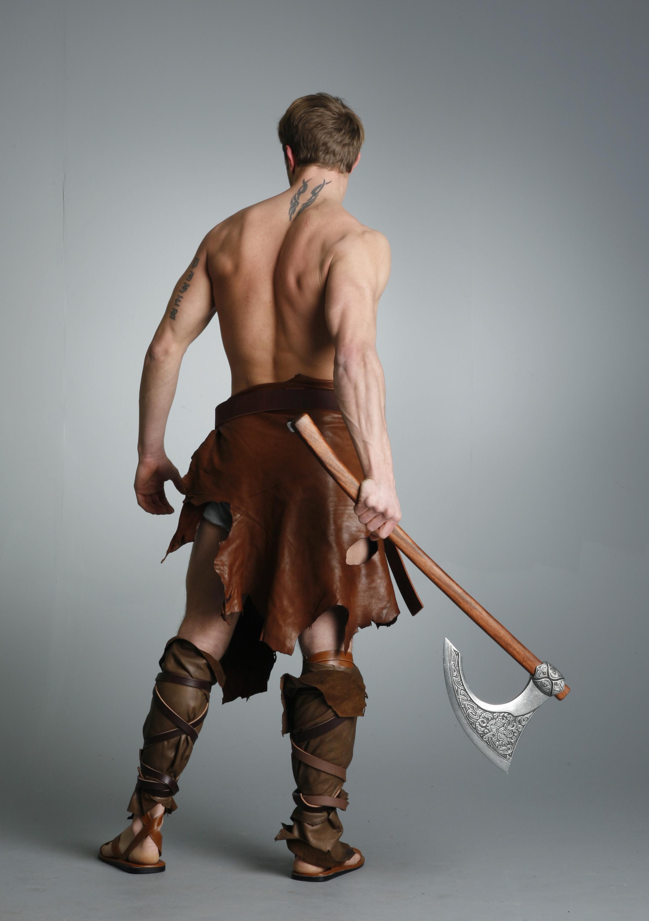 Barbarian Warrior - 27 by mjranum-stock