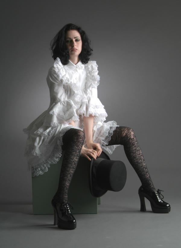 Lil White Goth Grl - 13 by mjranum-stock