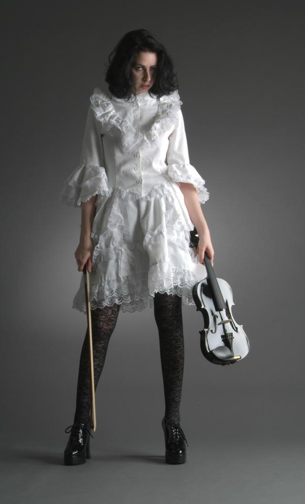 Lil White Goth Grl - 30 by mjranum-stock