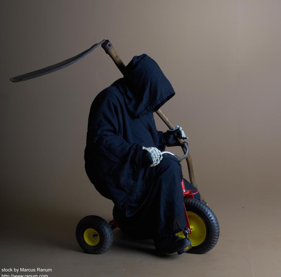 Death Rides a Pale Trike by mjranum-stock