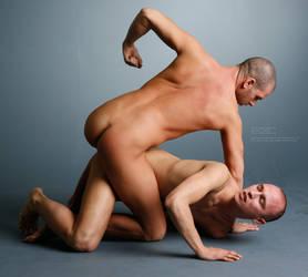 Wrestlers - 1 by mjranum-stock
