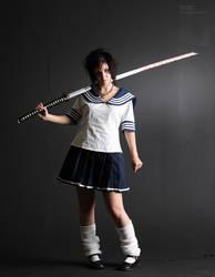 Samurai Schoolgirl - K - 1 by mjranum-stock