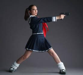 Gunslinger School Girl by mjranum-stock