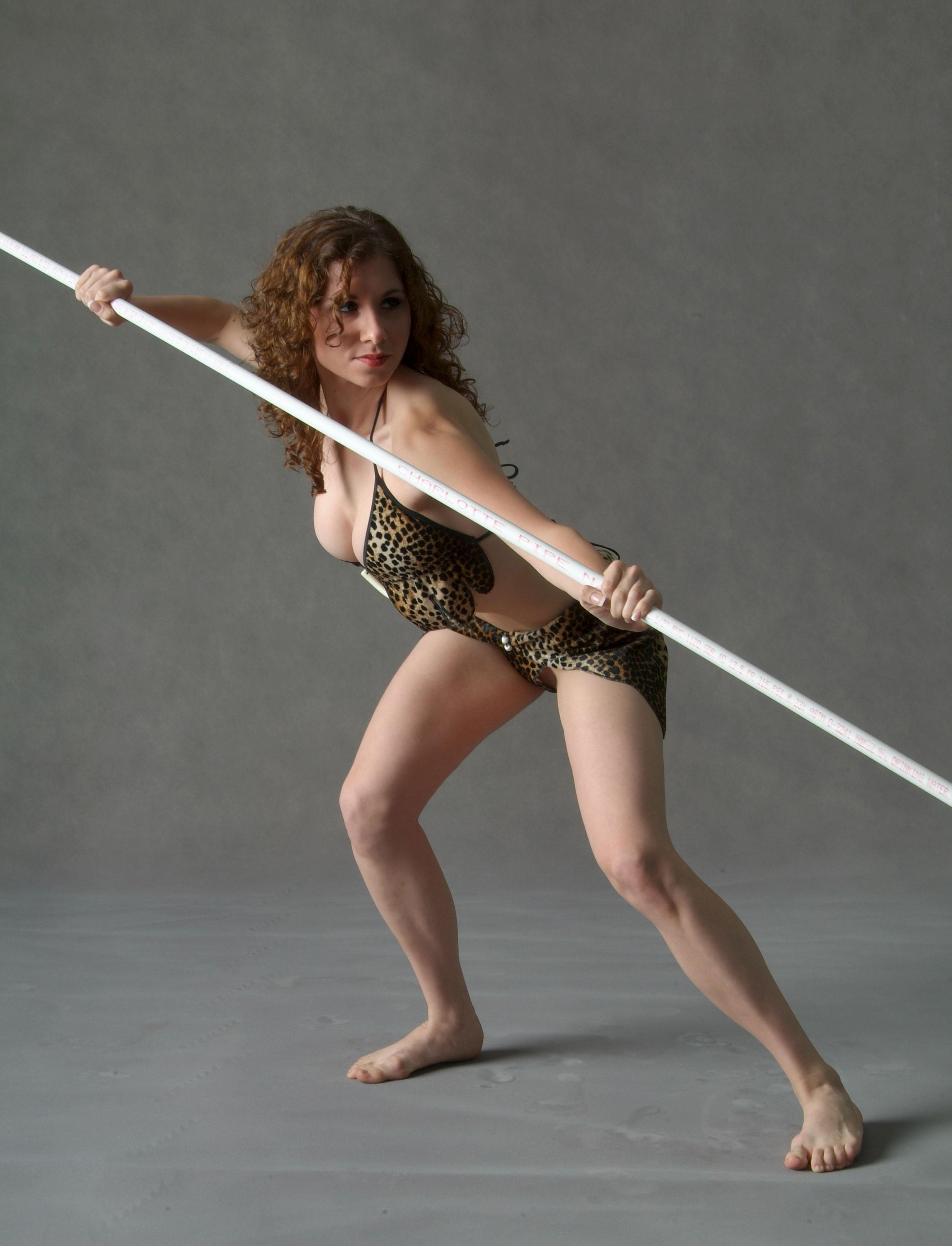 tribeswoman spearwoman warrior