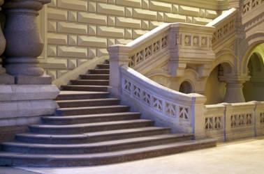 Grand Stairs by mjranum-stock