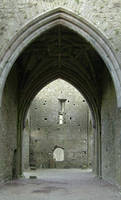 Abbey stone arch door by mjranum-stock