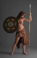 Barbarian Warrior - 4 by mjranum-stock