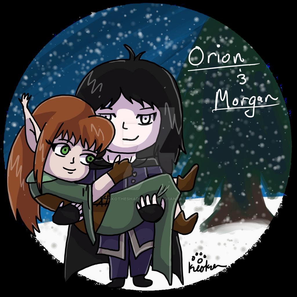 Elf Gift- Orion and Morgan by keokotheshadowfang