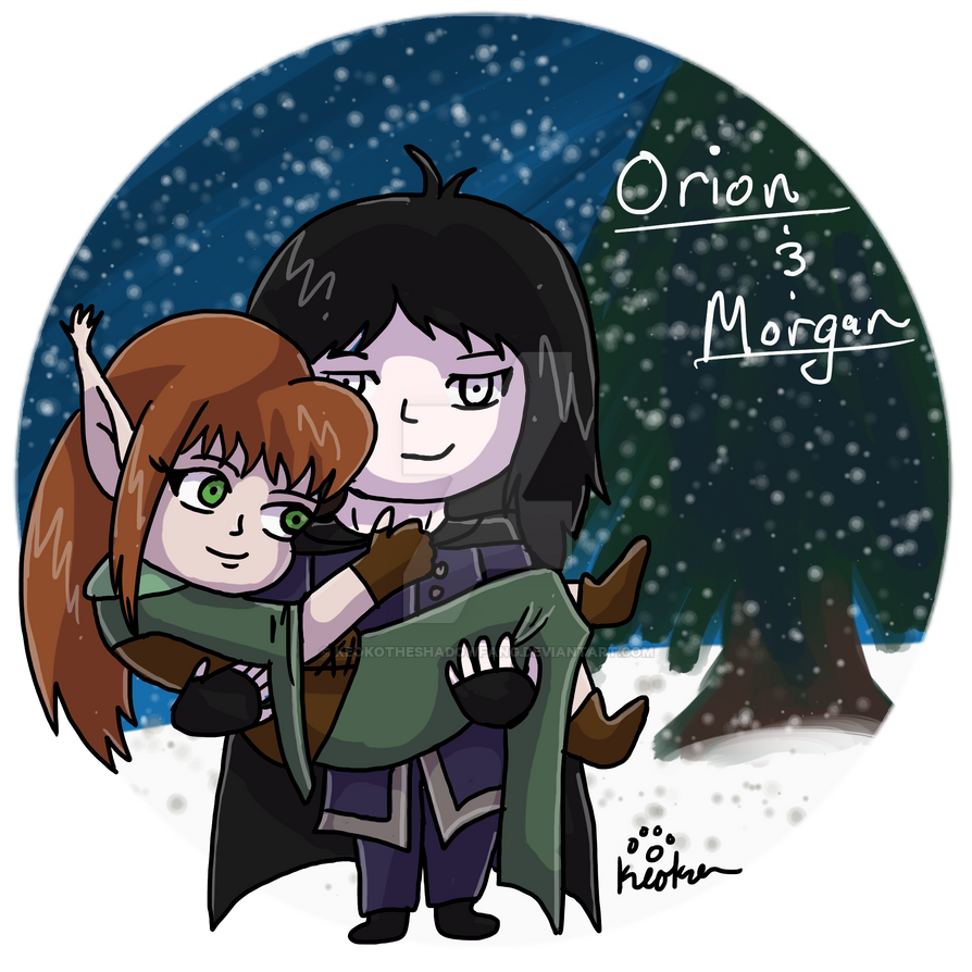 Elf Gift- Orion and Morgan by keokotheshadowfang
