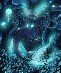 Glowing Treasures In the Deep by keokotheshadowfang