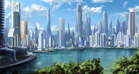 Cross Fate city concept by Adam-Varga