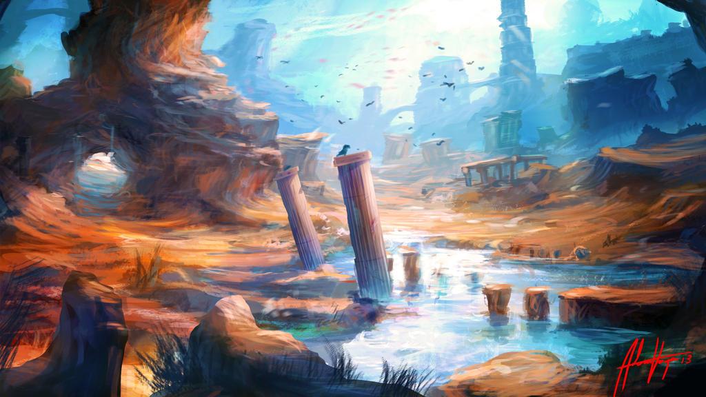 Atlantis Valley by Adimono
