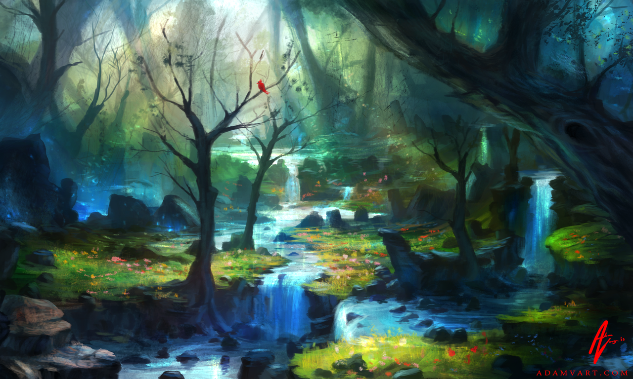 Enchanted Forest by Adimono