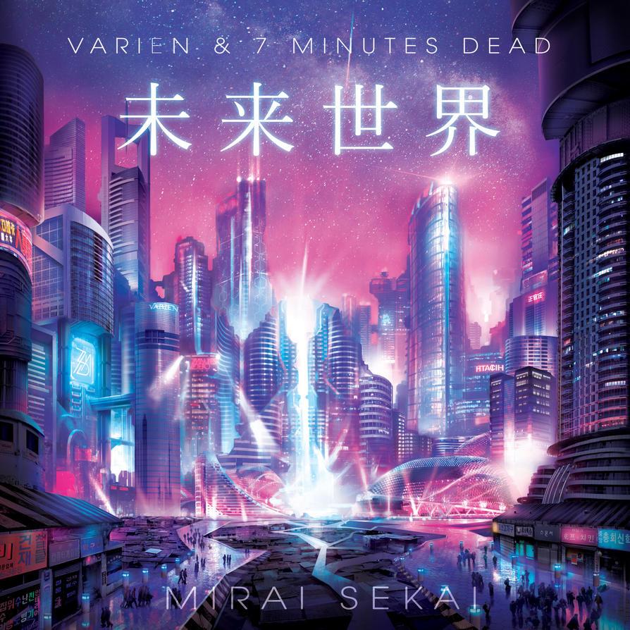 Mirai Sekai EP album cover by Adimono