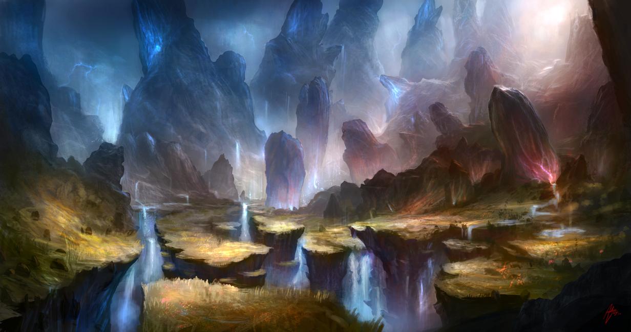 Jewel Landscape by Adimono