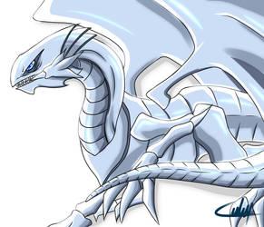 Classic Blue Eyes White Dragon by cajslo