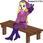 Heartfilia sitting on a Bench by Rapper1996