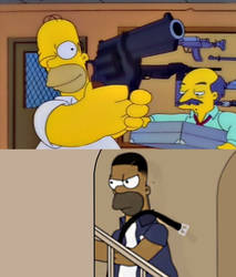 Simpson VS Johnson - Fighting with Weapons