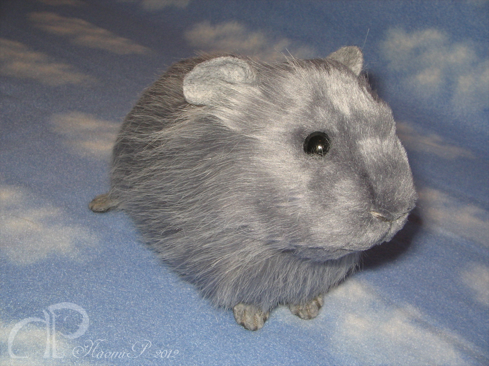 Big Guinea Pig Plushie - Blue Cloud by Morumoto