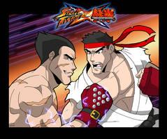 SxT - Ryu vs Kazuya by levonn78