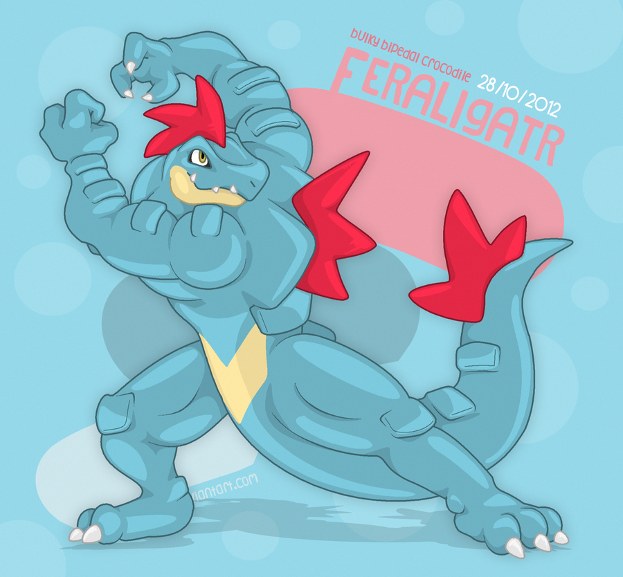 The Anthro Feraligatr by OutLeaf