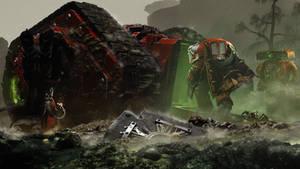 Blood Angels  and Spartan Assault Tank