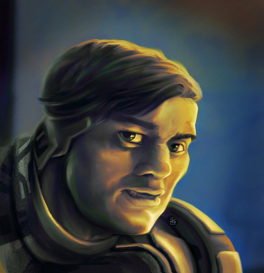 Stylized Sci-fi Portrait 18 by AumesRonoy