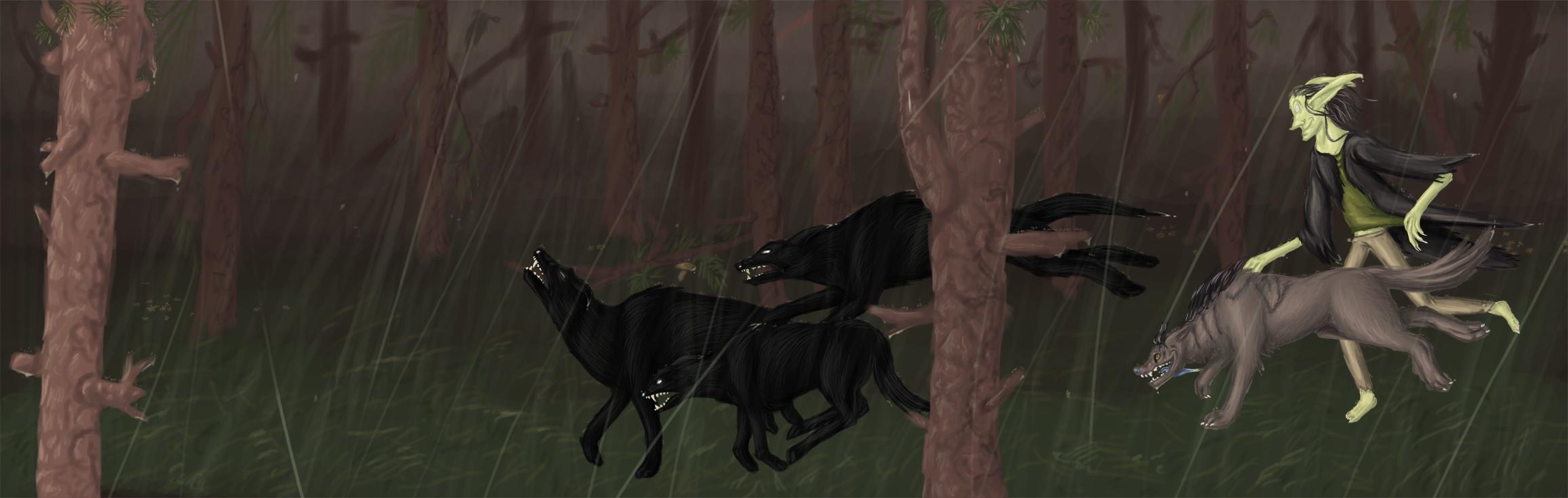 Pahantekija - through the rain by Sasiadragon