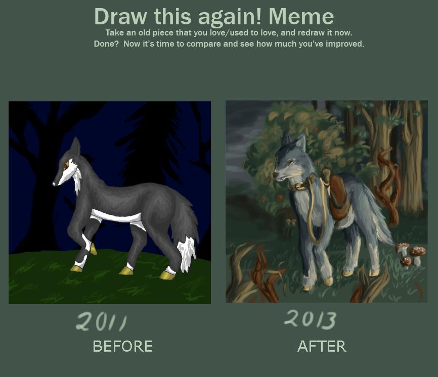 Draw it again-MeMe by Sasiadragon