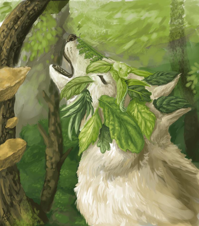 The Green Wolf by Sasiadragon