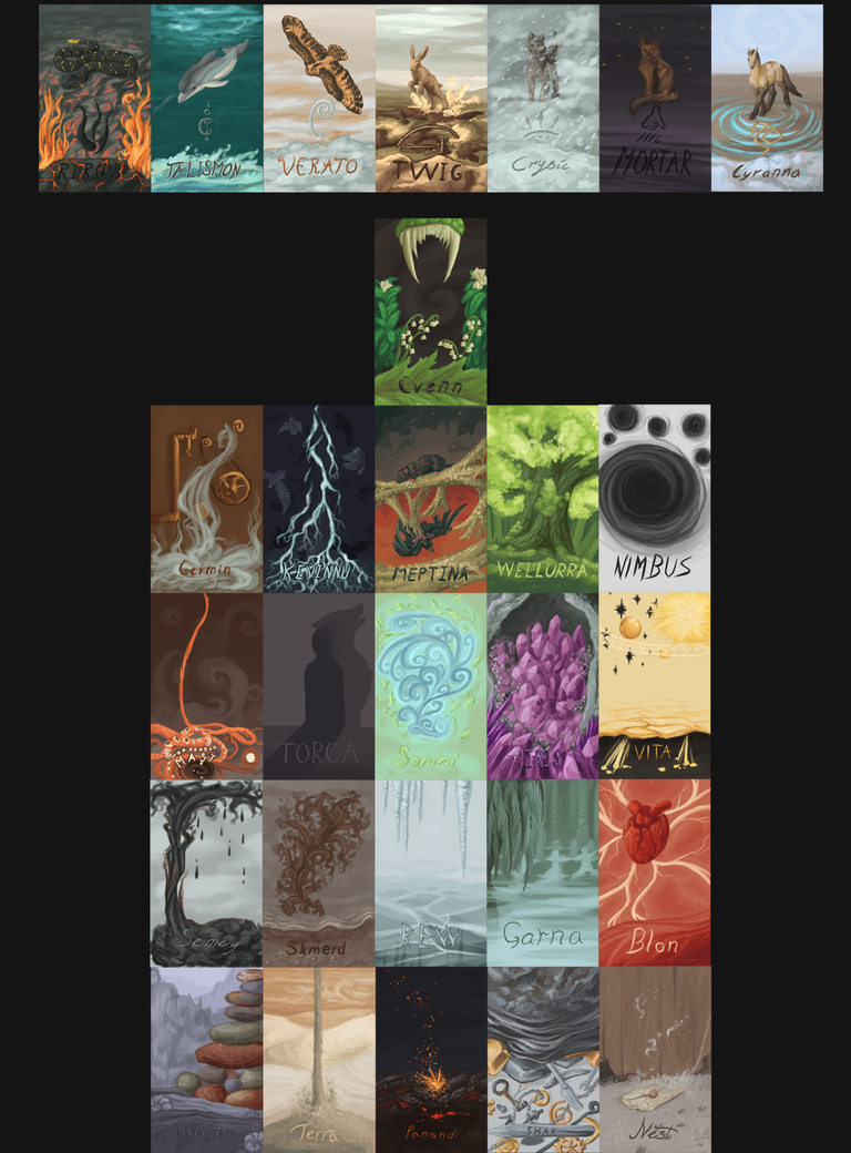 Elemental deck poster by Sasiadragon