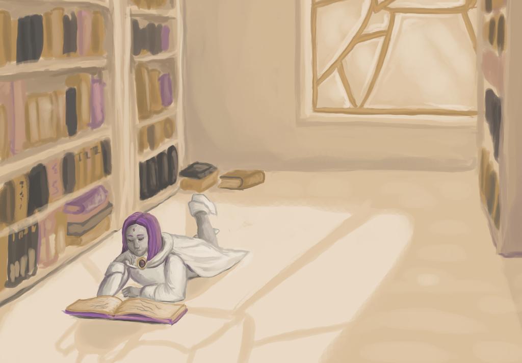 The Library of Azarath by Sasiadragon