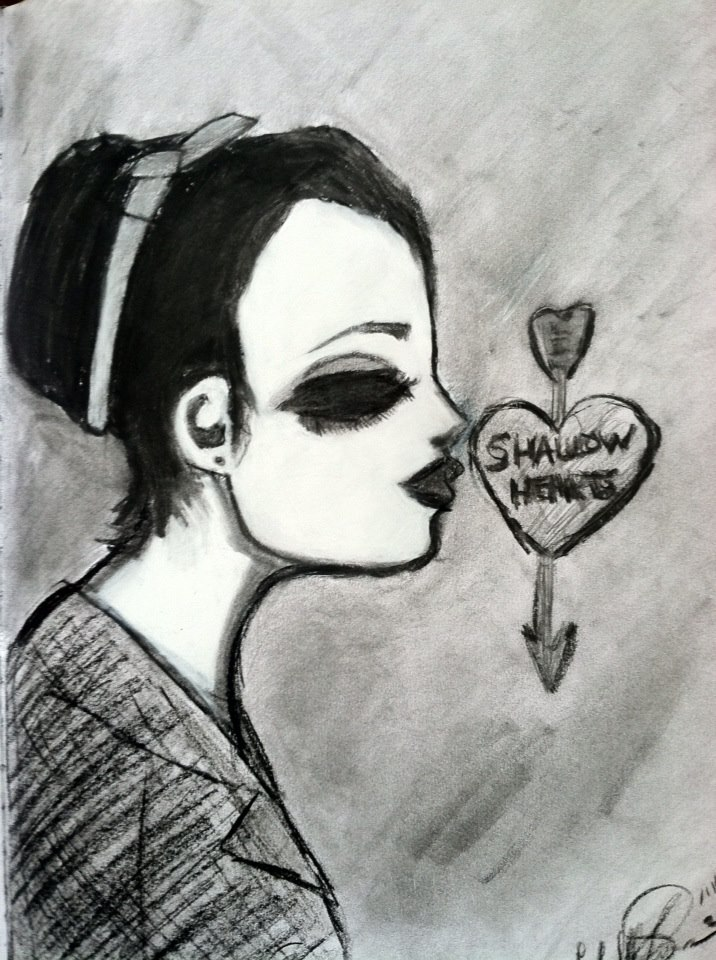 Charcoal Sketch (Shallow Hearts) by ChRiSsArTgAlLeRy