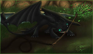 Toothless Scribble by Ski-Machine