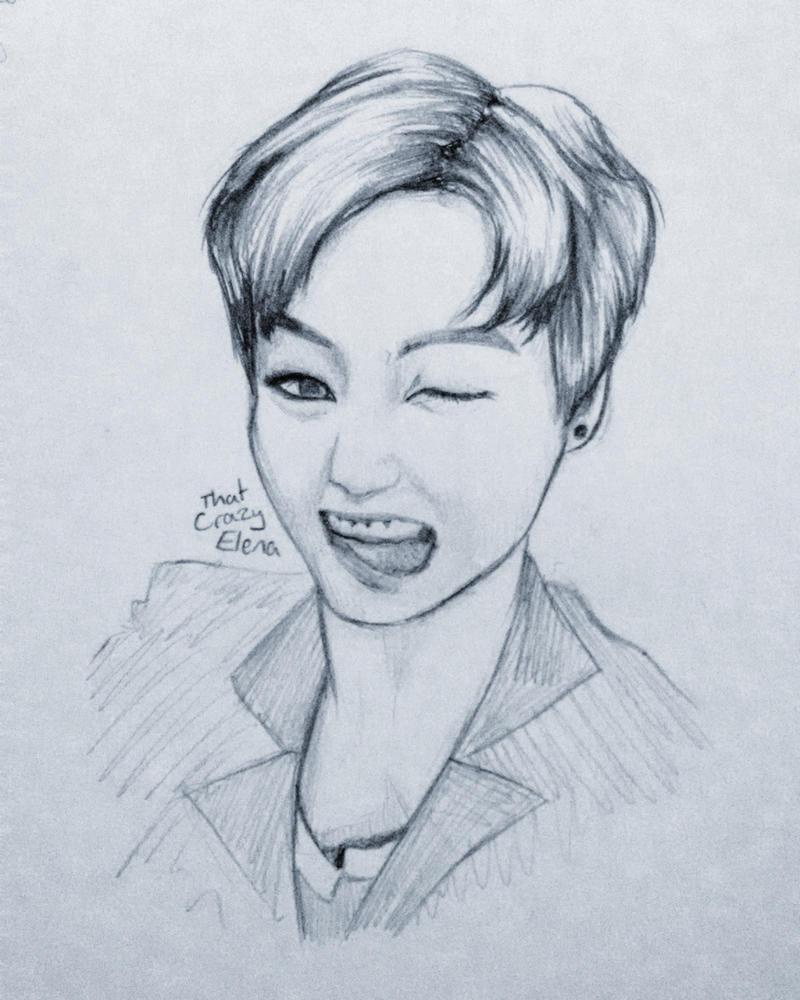 Jungkook Sketch By ThatCrazyElena On DeviantArt