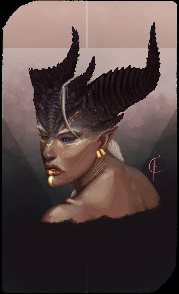 Audra Adaar - Portrait by SketchGlee