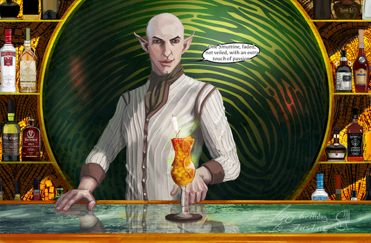 Solas The Bartender - One Faded Smuttine