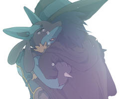 Lucario and Aaron by kissai