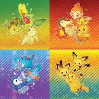 Pokemon:: Starter package by kissai
