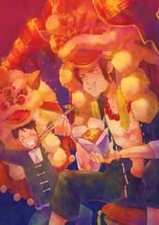 One Piece:: Luffy and Ace by kissai