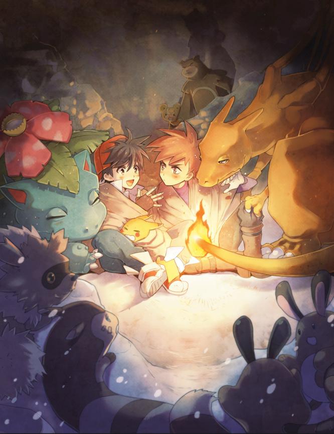 Pokemon:: Campfire by kissai