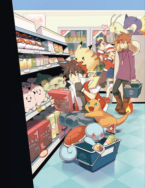 Pokemon:: Pokemart by kissai