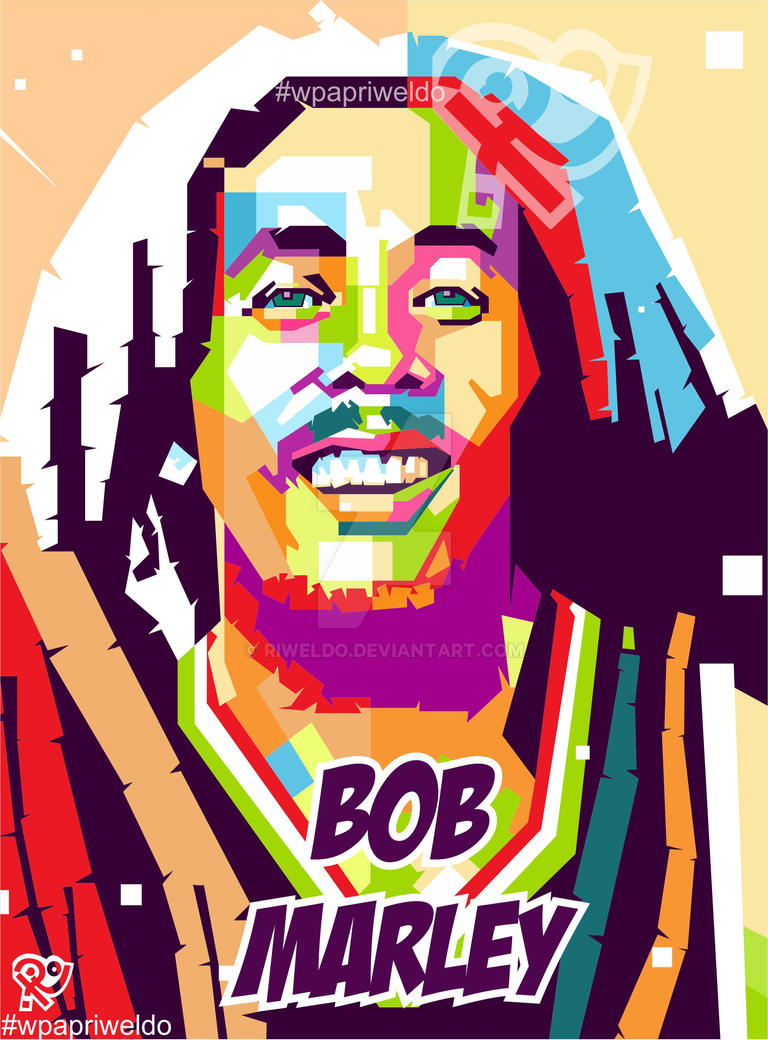 Bob Marley In Wedhas Pop Art Portrait By Riweldo