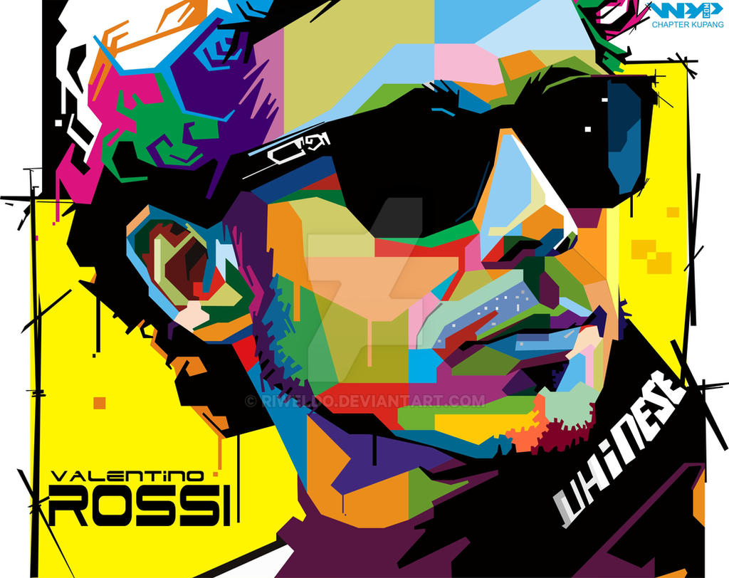 Valentino Rossi in Wedha's Pop Art Portrait by Riweldo on DeviantArt