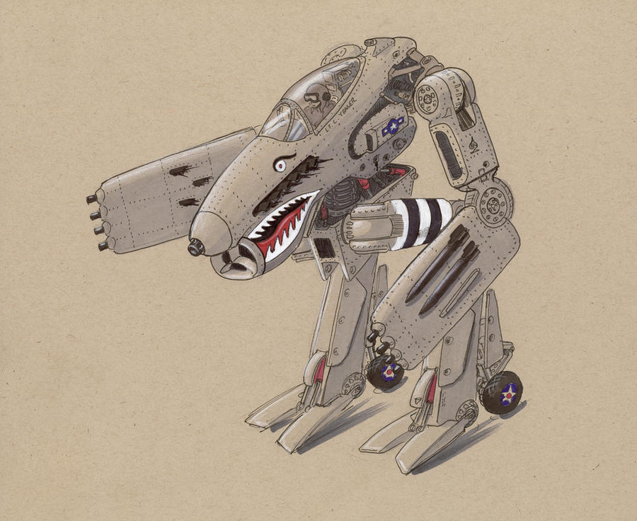 Allied retro mecha by Jepray