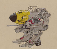 Axis Retro mecha by Jepray