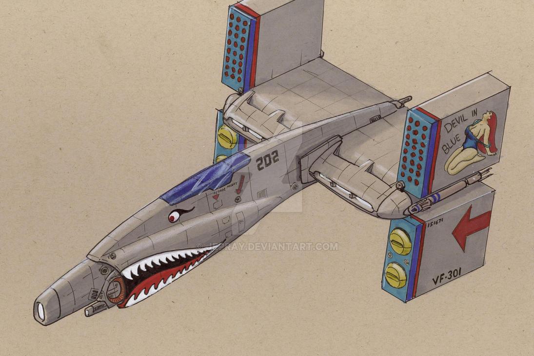 SF-101 heavy fighter by Jepray
