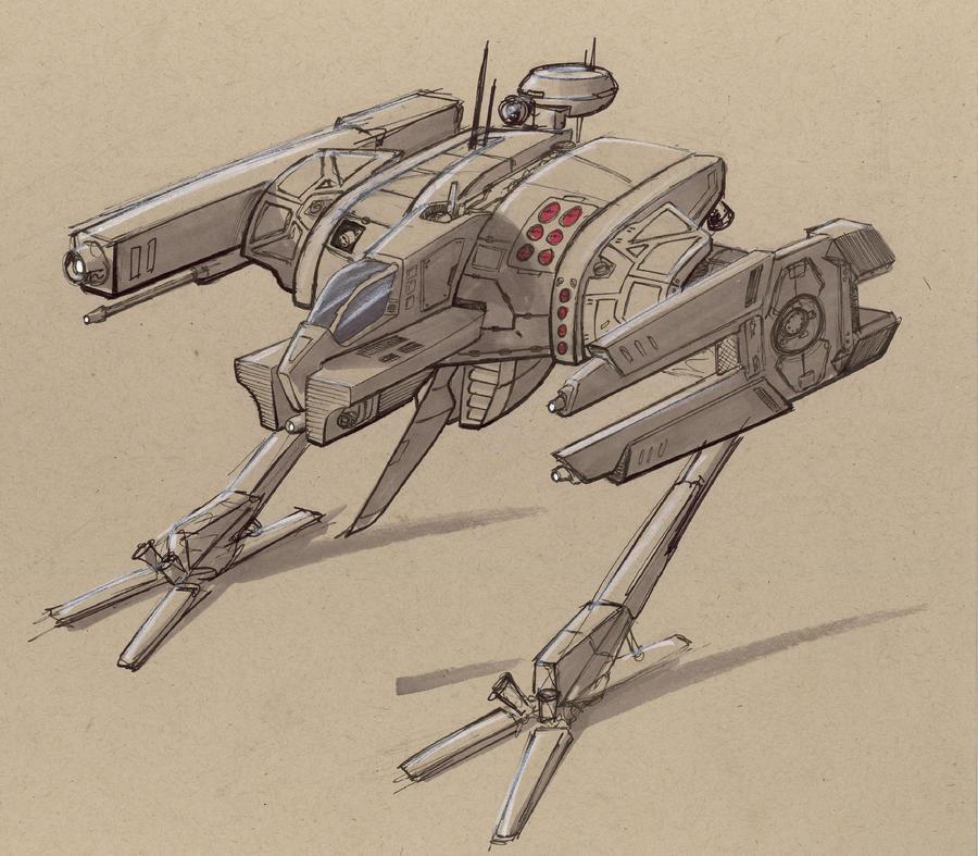 Battletech: Fl-32 Flanker by Jepray