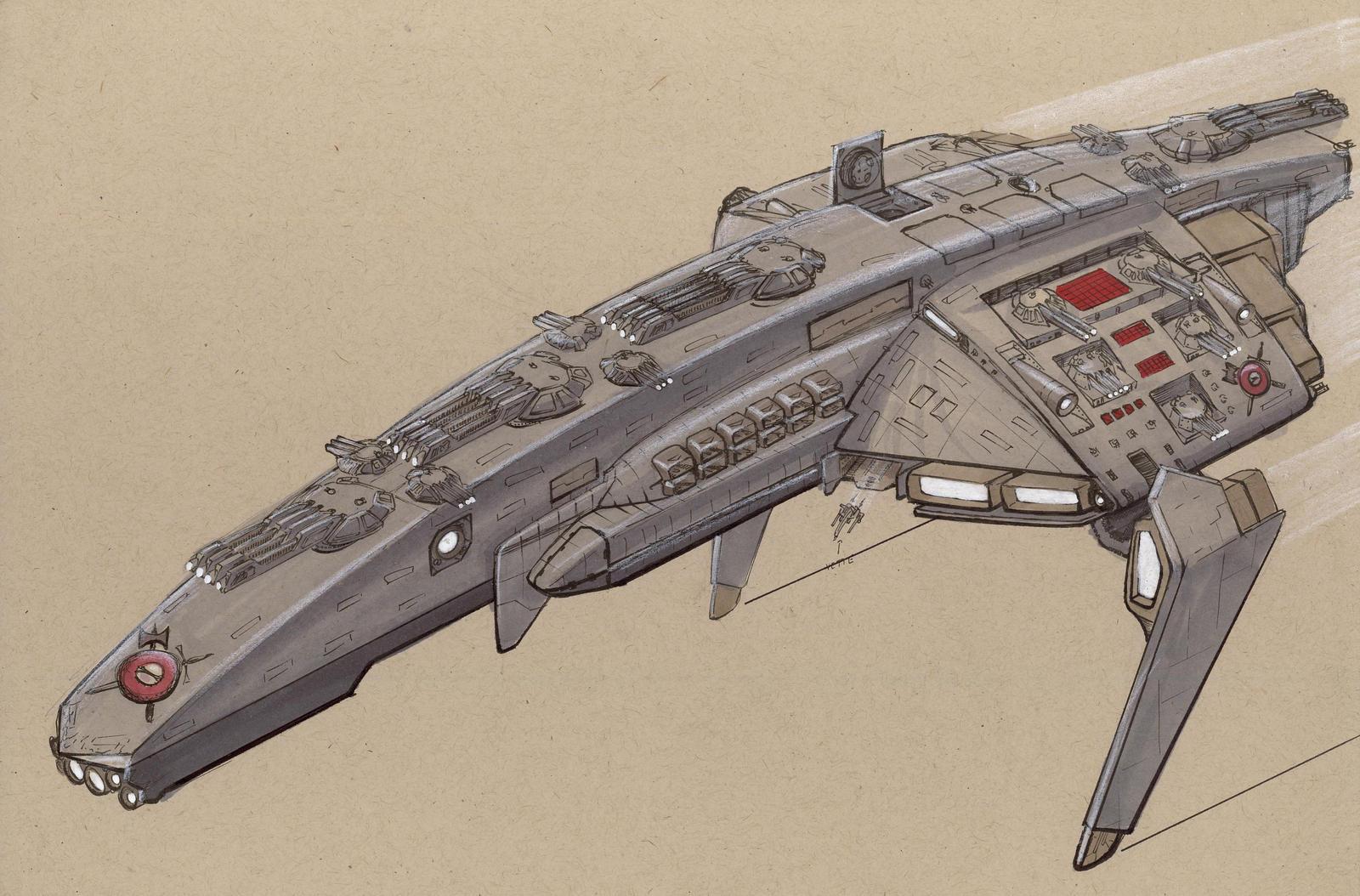 Mjollnir Class Battlecruiser by Jepray