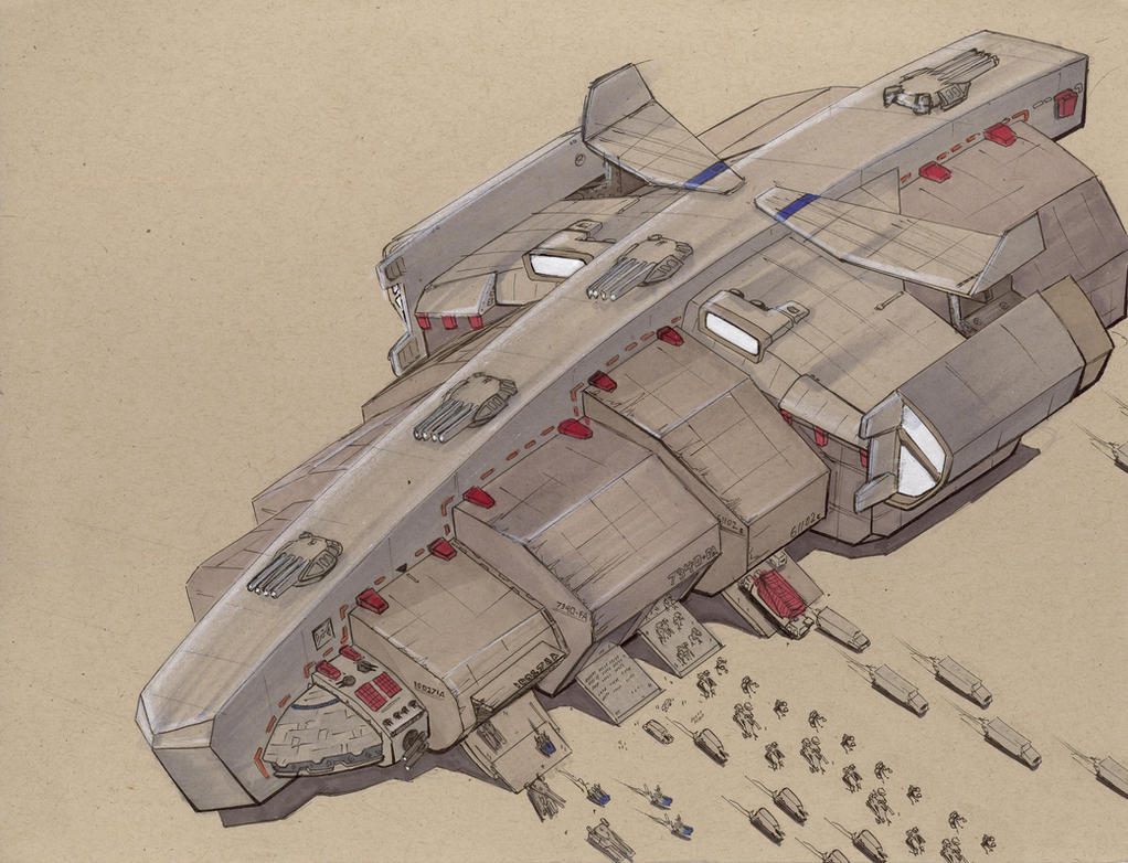 Drakkar-Class Transport by Jepray